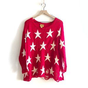 Wildfox The Seeing Stars Lennon Sweater In Red